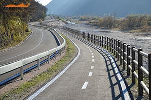Cortensafe-staccionata-Brunico-acciaio-corten-ciclovia-delle-Dolomiti-Veneto-Longarone-Belluno