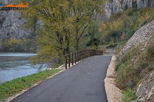Cortensafe-staccionata-acciaio-corten-Brunico-tre-correnti-pista-ciclabile-Le-Risorgive-Verona-Veneto-sicurezza-protezione-ciclisti