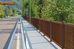Cortensafe-staccionata-parapetto-acciaio-corten-pista-ciclabile-Emilia-Romagna-sicurezza-protezione