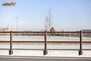 Cortensafe-staccionate-recinzioni-in-acciaio-corten-marciapiedi-protezione-ringhiere-outlet-Settimo-Torinese-Piemonte-Torino
