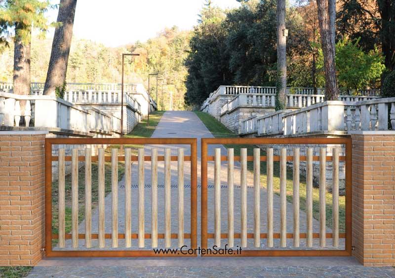 Cancelli Di Legno Prezzi : Cancelli in acciaio corten u e corten safe