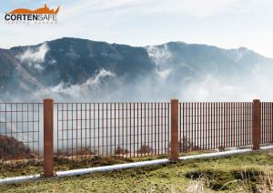 Collezioni staccionate e recinzioni corten safe for Strutture metalliche dwg