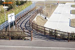 Cortensafe-staccionata-Brunico-delimitazioni-ringhiere-modulari-protezione-marciapiede-gradinata-Settimo-Torinese-Piemonte