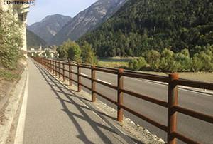 Cortensafe-staccionate-acciaio-corten-Brunico-a-due-correnti-struttura-modulare-Alto-Adige-